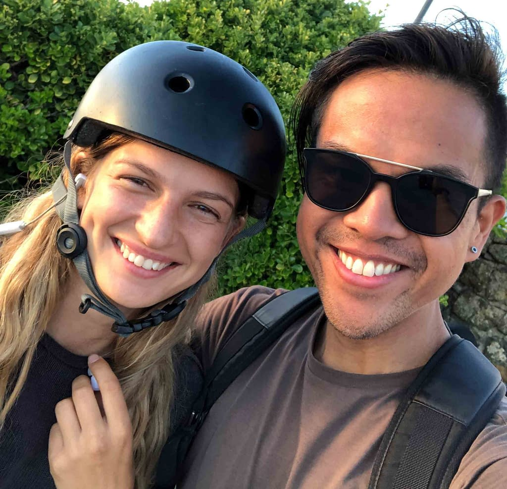 valeriya gogunskaya and i chilling during my first edition of the longboard dancing camp in portugal