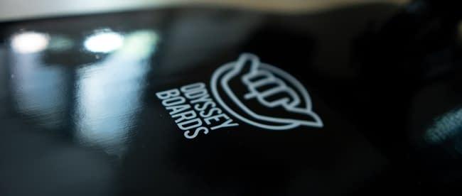 odyssey board co logo on nahoa v2 nightfall