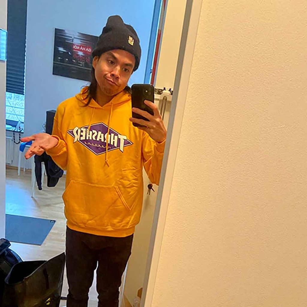earned thrasher hoodie for kickflip